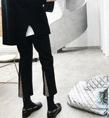毛呢褲子女秋冬新款韓版高腰微喇叭九分褲寬鬆西裝直筒休閒褲 衣櫥秘密