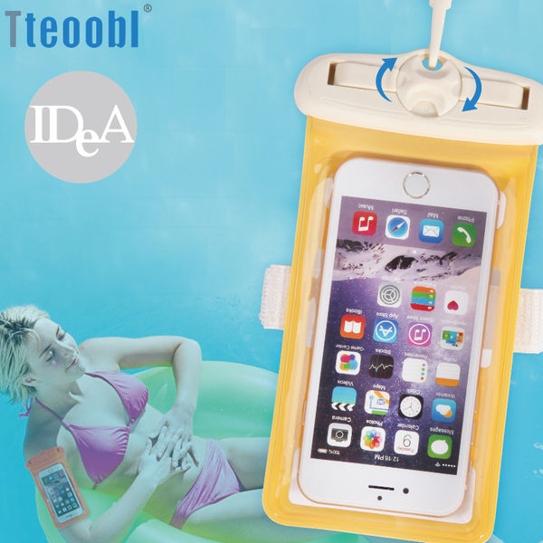 Tteoobl 特比樂 雙保險盤臂掛+頸掛式手機觸控防水收納袋 5.2吋 6.3吋 保護套 游泳 浮潛 衝浪 夏日