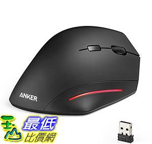 [106美國直購] Anker Ergonomic USB Wireless Vertical Mouse DPI 800/1200/1600 with side controls 無線滑鼠