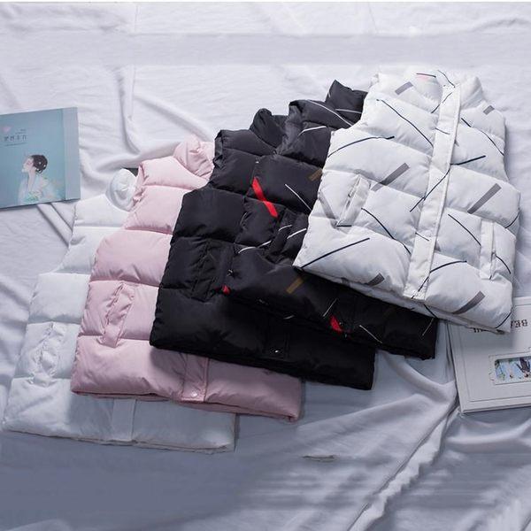 2018秋冬新款羽絨棉馬甲女學生短款簡約百搭坎肩韓版加厚背心外套 挪威森林