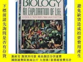 二手書博民逛書店罕見Biology:an exploration of life