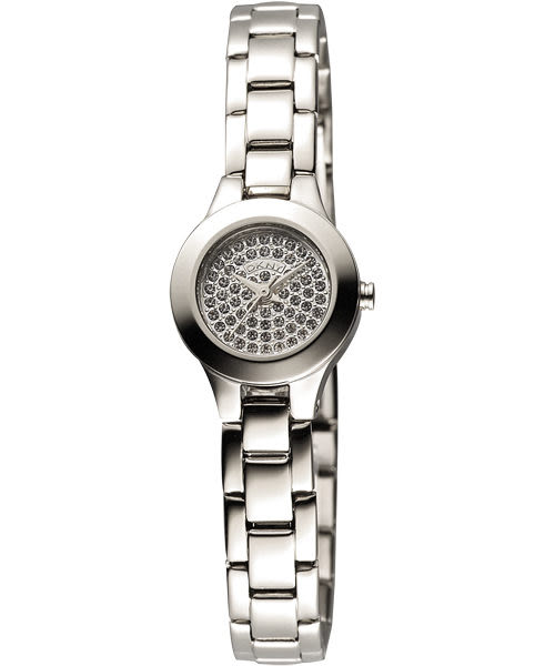 DKNY 性感曲線晶鑽女錶-銀 NY8691
