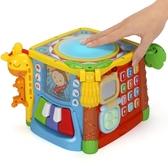 谷雨兒童早教益智手拍鼓0-1歲寶寶數字屋形狀配對積木玩具六面盒·享家生活館