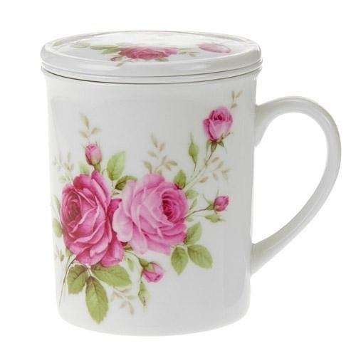 日本【四季玫瑰 La Reine Rose】附濾蓋馬克杯