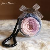 Jane Flowers進口永生花車掛干花保鮮玫瑰花汽車掛件車載掛式禮物
