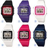 【618均一價】CASIO 卡西歐 繽紛夏日方形數字腕錶W-215H-1A2/2A/4A/6A/7A/A72 任選滿件$618 優惠中!