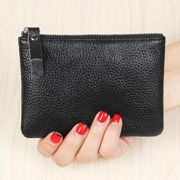 皮質男女迷你零錢包皮質拉鍊硬幣包短款小錢包手包鑰匙包駕駛卡包【快速出貨】