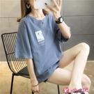 短袖上衣 超火t恤女短袖寬鬆2021新款春夏季韓版學生綠色上衣潮打底衫 小天使 99免運