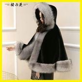 披風斗篷外套披肩女秋冬2018新款斗篷式外搭蝙蝠型加厚保暖韓版大