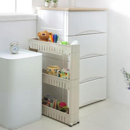 三層縫隙收納架 收納架 收納櫃 置物架 角落架 零食櫃 縫隙 夾縫 浴室 廚房 居家 收納