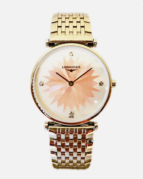 LONGINES 浪琴L45124246 嘉嵐幻彩系列鑲鑽女錶粉29mm