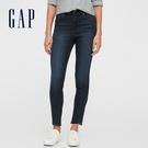 Gap女裝 時尚高腰修身款緊身牛仔褲 619242-深藍色