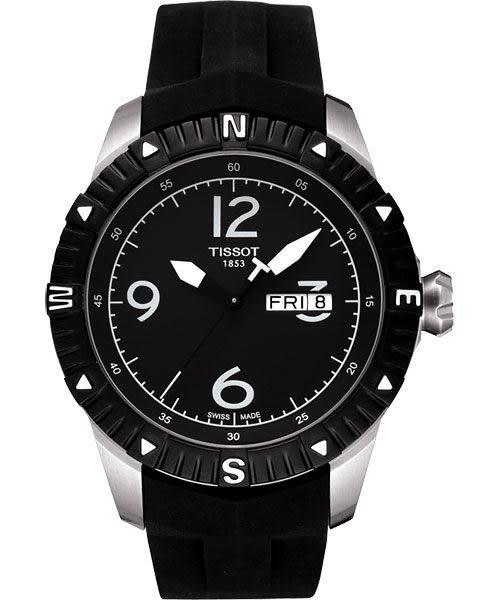 TISSOT 天梭 T-Navigator 霸氣型男機械手錶-黑/橡膠 T0624301705700