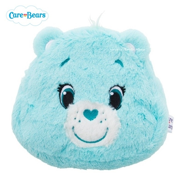 日本限定 Care Bears 彩虹熊 大臉 收納包 / 化妝包 (藍)