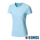 【超取】K-SWISS Back KS logo Tee涼感排汗T恤-女-水藍