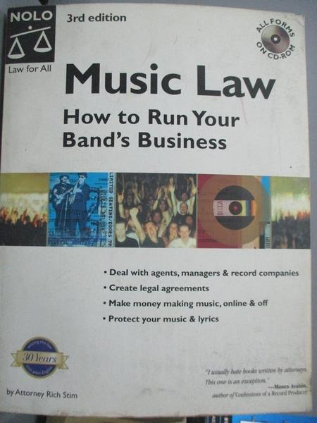 【書寶二手書T1/音樂_ZBA】Music Law : How to Run Your Band s Business With CD