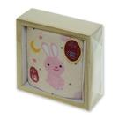 木盒裝小毛巾-兔子
