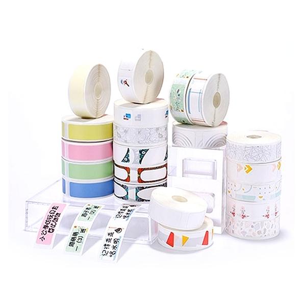 精臣D11專用貼紙 花色標籤紙 價籤紙 感熱紙捲 感熱貼紙 不干膠熱敏標籤紙 12*30mm/210張
