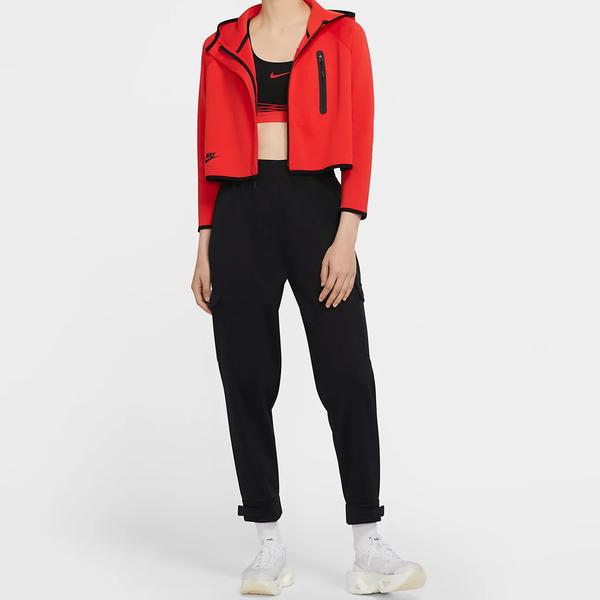 【現貨】Nike NSW Swoosh 女裝 長褲 工裝 滑面 口袋 小腿串標 黑【運動世界】CU5634-010