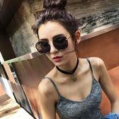 新款墨鏡女韓版潮偏光太陽鏡圓臉復古原宿風明星款「韓風物語」