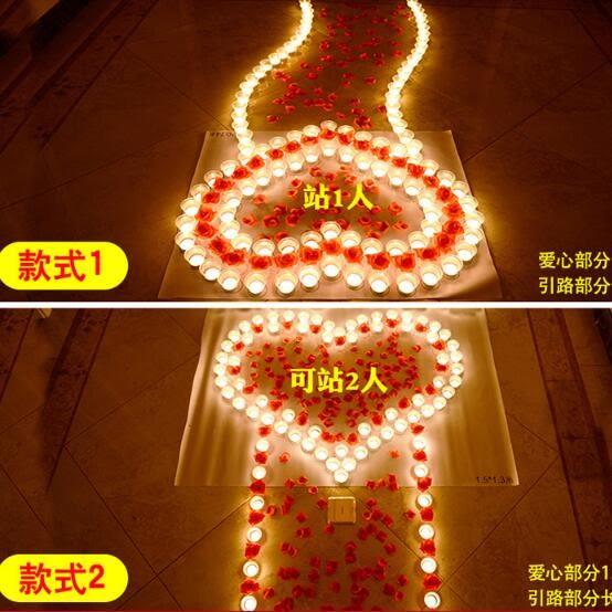 生日蠟燭玫瑰套餐蠟燭創意浪漫求愛蠟燭錶白神器求婚道具浪漫蠟燭