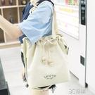 偌芙妮 原創木珠抽繩布包簡約布袋包文藝帆布包女單肩手提斜背包 3C優購