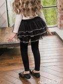 兒童褲裙女童裙褲加絨加厚打底褲秋冬外穿高腰網紗假兩件褲裙兒童褲子 小天使