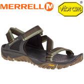 【MERRELL 美國 男款 ALL OUT BLAZE WEB 涼鞋〈綠/棕/黑〉 】ML 37643/休閒鞋/登山鞋/運動鞋★滿額送
