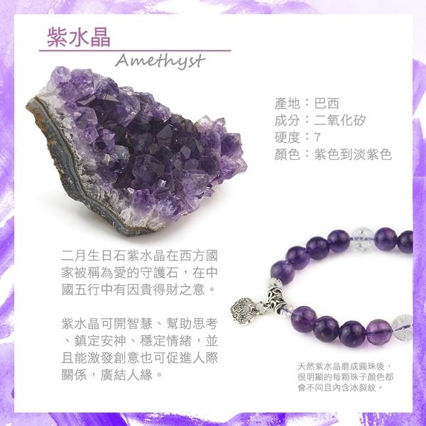 紫水晶手鍊-品牌經典-12mm 石頭記