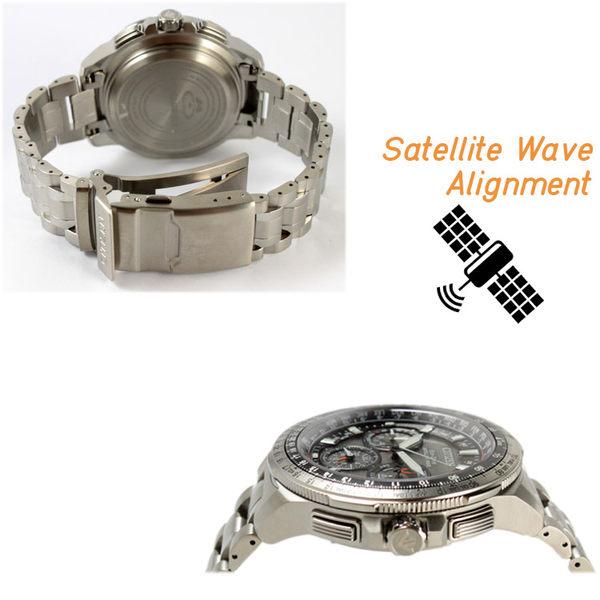 【萬年鐘錶】星辰 CITIZEN  Eco-Drive光動能 衛星 GPS定位對時 鈦金屬款 CC9020-54E