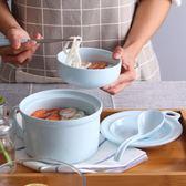 陶瓷泡面碗帶蓋日式馬卡龍色可愛卡通泡面杯碗大號學生飯盒宿舍碗解憂雜貨鋪