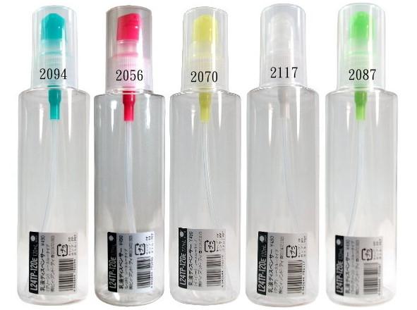 日本空瓶 B+D乳液瓶 L24TP-120 E/日本製壓頭 耐用/可分裝酒精或消毒水/不挑色材質塑膠1號PET