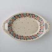 波蘭陶 桃花源系列 雙耳長形深餐盤 32.5cm 波蘭手工製