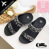 韓國 Ollie 韓國空運 版型正常 百搭雙帶 立體亮鑽 舒壓乳膠 美體厚底涼拖鞋【F720667】2色 SD韓美鞋