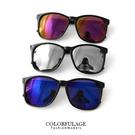 百搭素面粗膠方框太陽眼鏡 韓系墨鏡 中性男女都適合 柒彩年代【NY278】抗UV400