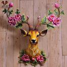 招財富貴鹿頭壁掛壁飾墻壁裝飾品創意家居裝...