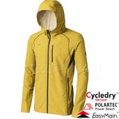 EasyMain衣力美 CE17087-35橄欖黃 男耐磨快乾夾克風衣 Polartec防風95% 戶外機能外套/防寒防風*