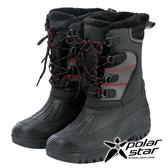 【PolarStar】男防潑水保暖雪鞋『黑』P19633 雪地靴.雪鞋.賞雪.滑雪.雪地必備.保暖.抗寒