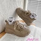 老爹鞋學生老爹鞋女春秋潮ins百搭女鞋新款2021爆款厚底女運動休閒鞋子 JUST M