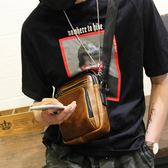 男士單肩包正韓休閒斜挎包腰包手機包青年運動小背包潮
