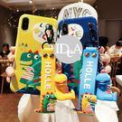 IDEA iPhone7 8Plus恐龍藍光手機殼 保護殼 抖音 全機包覆 軟殼 吊飾 吊繩 卡通 可愛 防摔