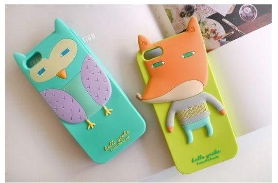【世明國際】NG出清-i4f1-蘋果IPhone4/4韓國Romane動物森林家族果凍套保護套手機套立體矽膠保護殼