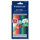 【奇奇文具】施德樓STAEDTLER MS14450NC12 快樂學園可擦拭色鉛筆 (12/色組)