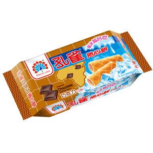 ●孔雀巧克力捲心餅63g-單包【合迷雅好物超級商城】