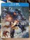 挖寶二手片-0Q01-103-正版藍光BD【環太平洋1 3D+2D三碟版 附外紙盒】-熱門電影(直購價)
