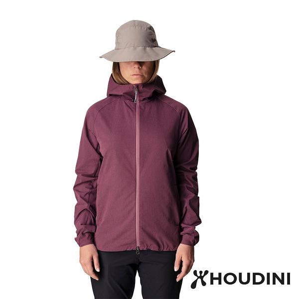 【瑞典 Houdini】Daybreak Jacket 休閒防風連帽外套 女款 暈眩紫 #149864