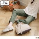 《KG1013-》高含棉素色舒適打褶直筒褲 OB嚴選