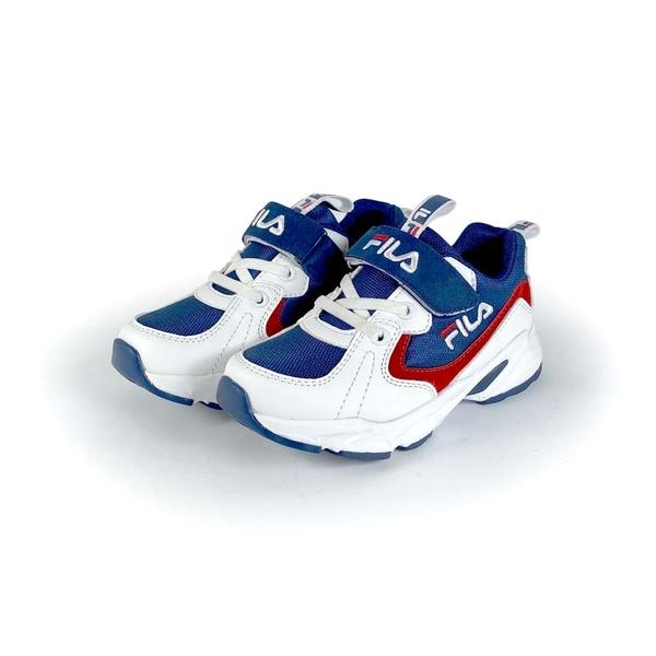 《FILA》兒童復古運動鞋 白藍紅 2-J825U-123