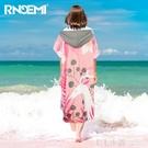 速干浴袍游泳毛巾披衣換衣斗篷可穿式浴巾女吸水巾溫泉潛水沙灘巾