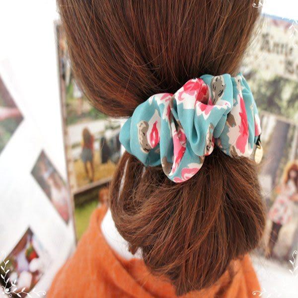 ☆棒棒糖童裝☆波西米亞風 復古色油畫花紋髮圈